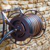 enrouleur de décoration extérieure en fer forgé marron